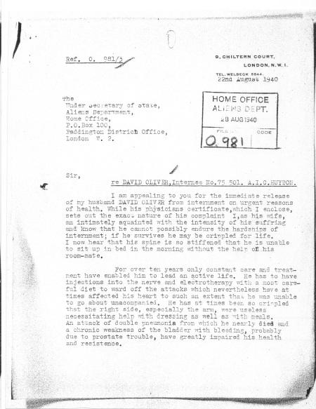 oliver letter intern